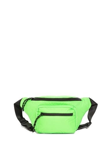 Mavi Neon Yeşil Bel Çantası Yeşil